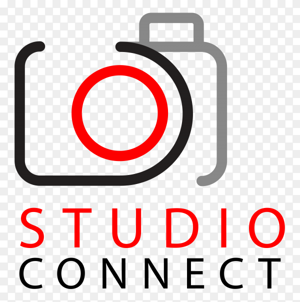 Photography logo on transparent background PNG