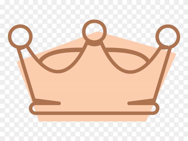 Pink Royal Crown icon illustration Premium vector PNG
