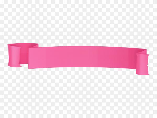 Pink banner on transparent PNG