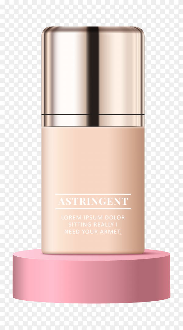 Pink cosmetic ad Clipart PNG