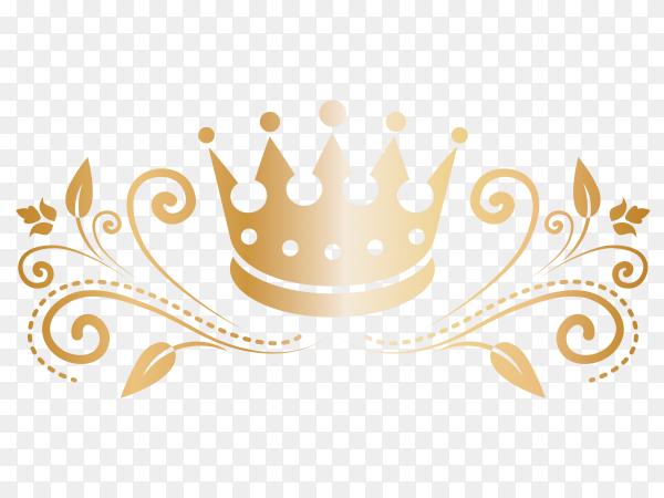 Pretty crown in realistic design Premium vector PNG