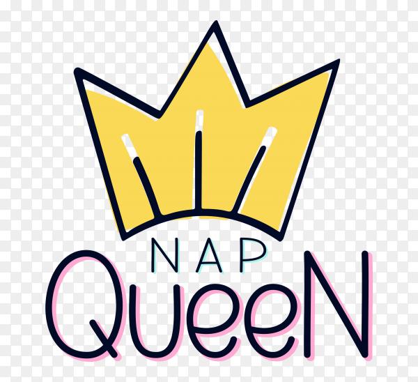 Queen lettering vector PNG