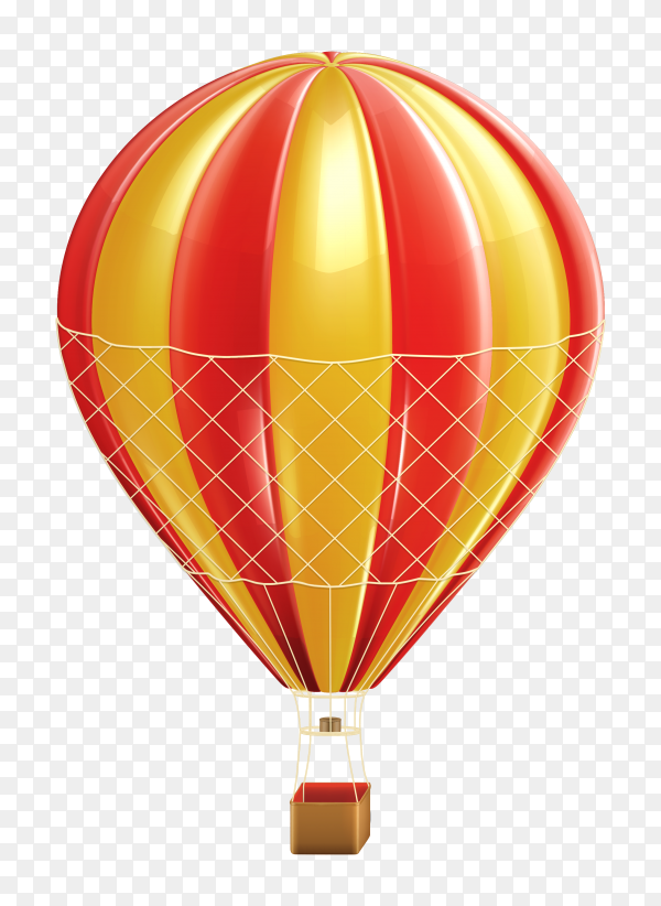 Realistic air balloon on transparent background PNG