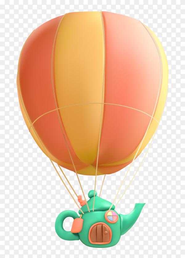 Realistic air balloon vector PNG