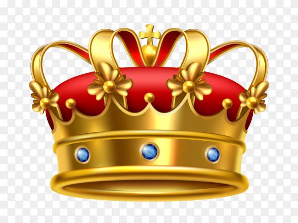 Realistic royal crown vector PNG