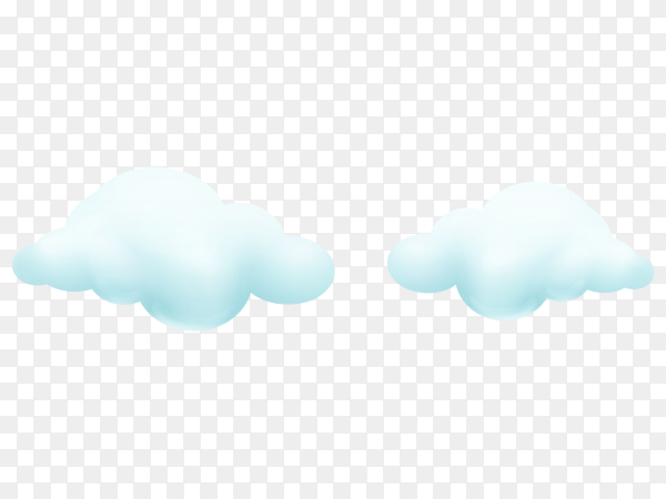 Realistic white cloud on transparent background PNG