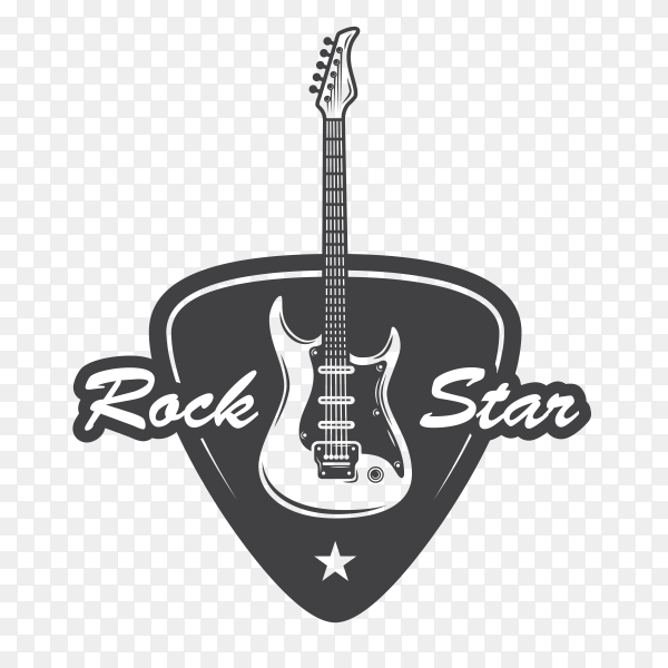 Rock star with Guitar Clipart PNG