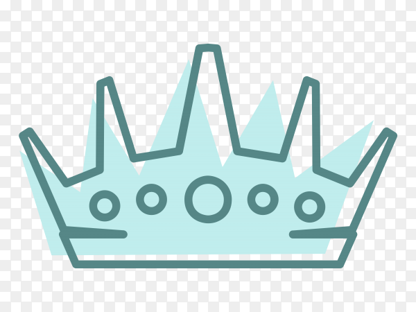 Royal Crown icon illustration Premium vector PNG