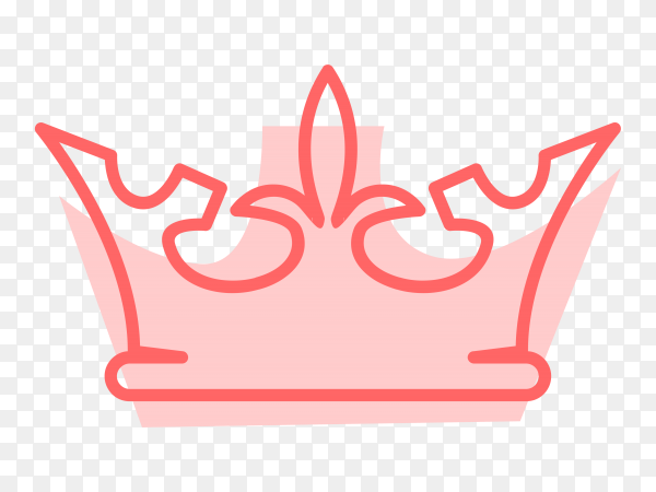 Royal Crown icon illustration vector PNG