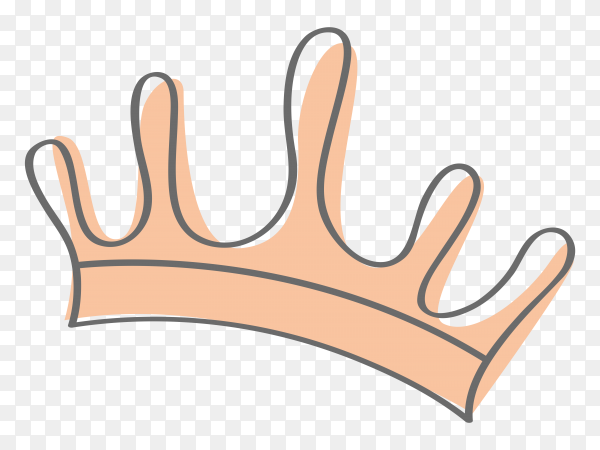 Sketchy crown Clipart PNG