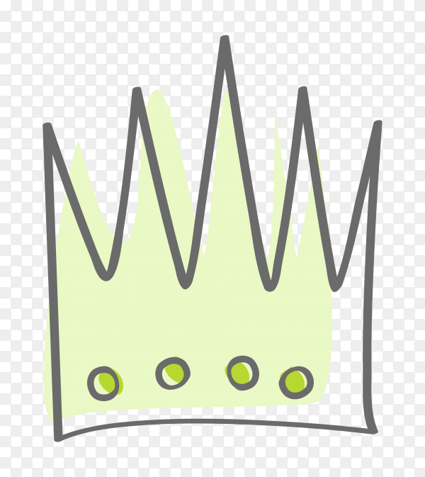 Sketchy crown Premium vector PNG