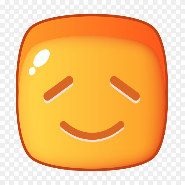 Smiling with closed eyes clipart PNG