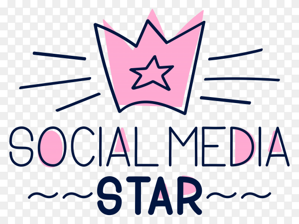 Social media star Logo vector PNG