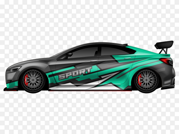 Sport car on transparent background PNG