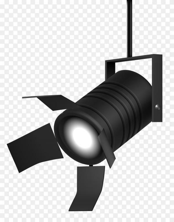 Spot light on transparent background PNG