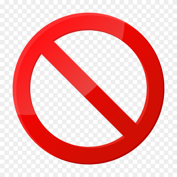 Stop sign icon notifications that do not do anything on transparent background PNG