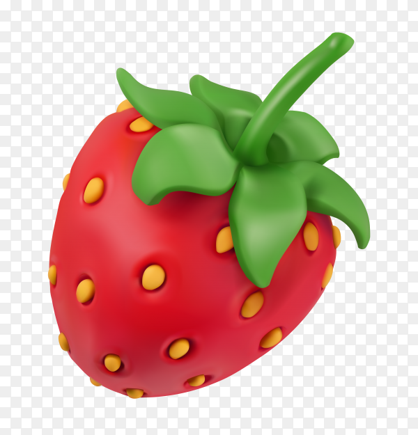 Tasty red Strawberry on transparent background PNG