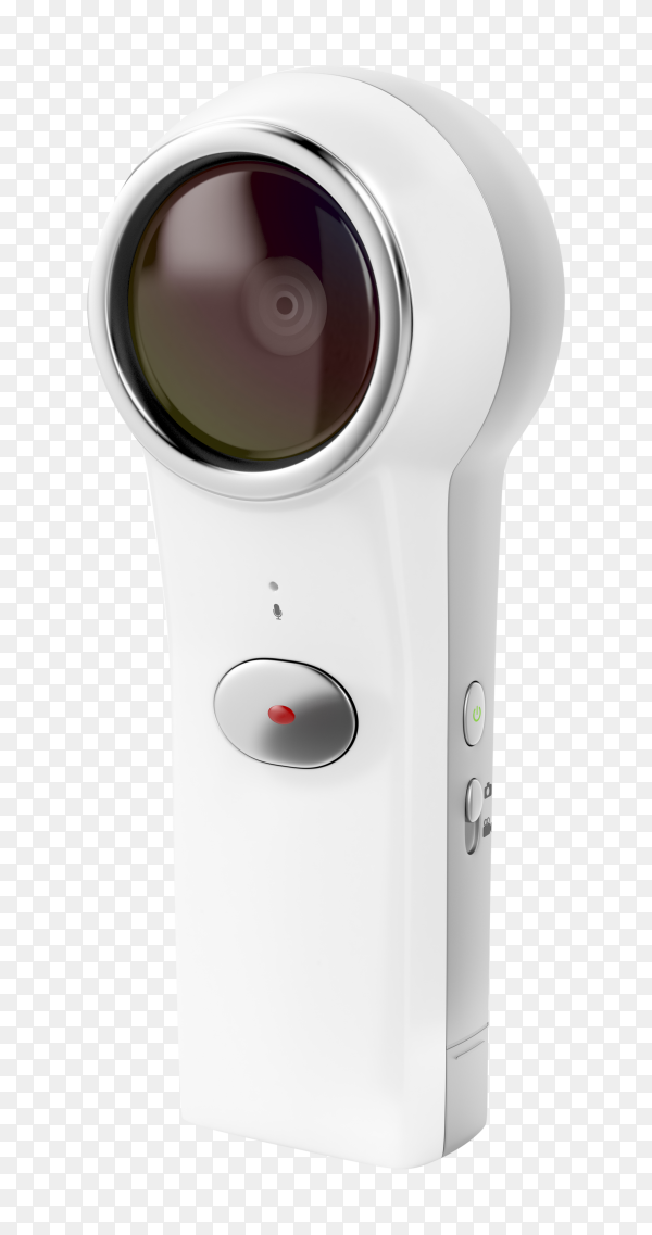 Virtual reality camera 360 degree on transparent background PNG