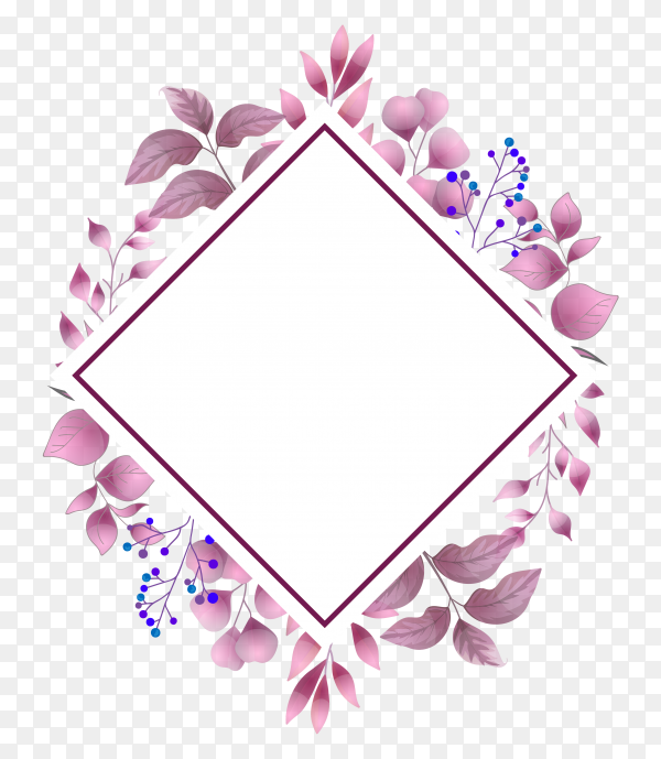 Watercolor wedding invitation floral leaves card Clipart PNG
