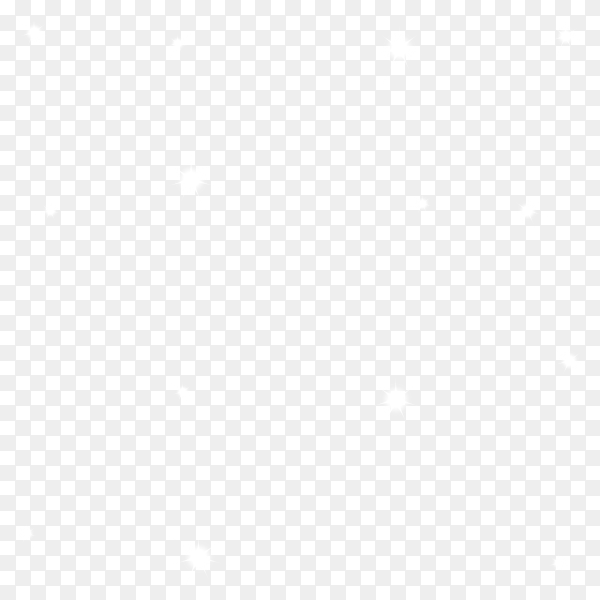 White Stars on transparent background PNG