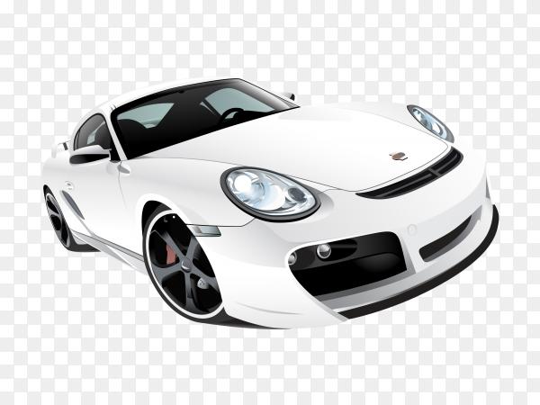 White car Premium vector PNG