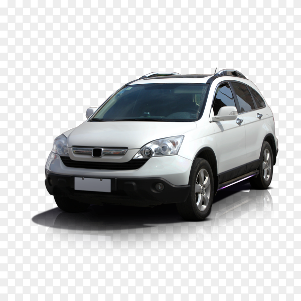 White car on transparent PNG