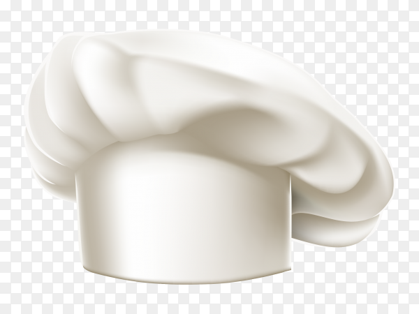 White chef hat Premium vector PNG