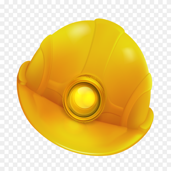 Yellow Safety helmet on transparent background PNG