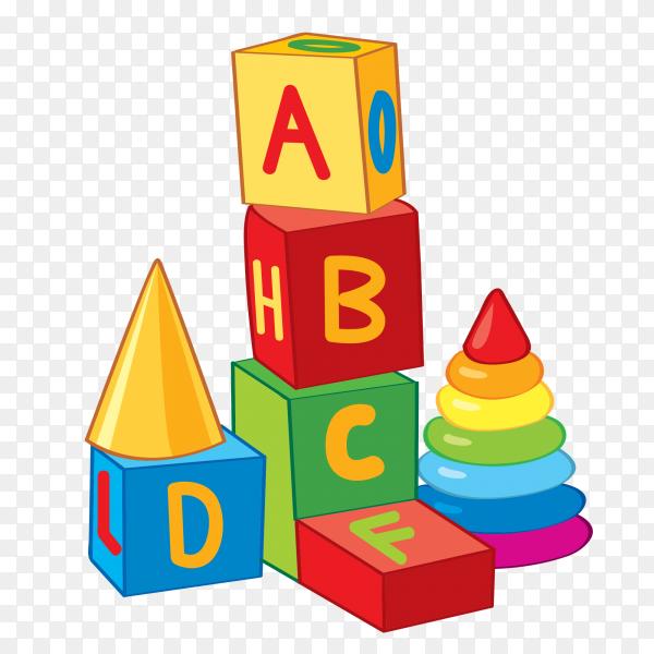 Abc Blocks on transparent background PNG