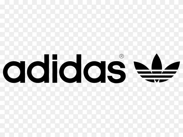 Adidas logo style on transparent background PNG