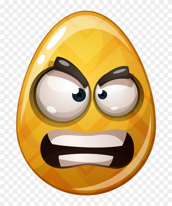Anger Face egg on transparent background PNG