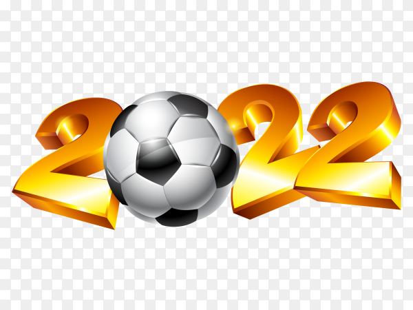 Ball logo with 2020 year on transparent background PNG