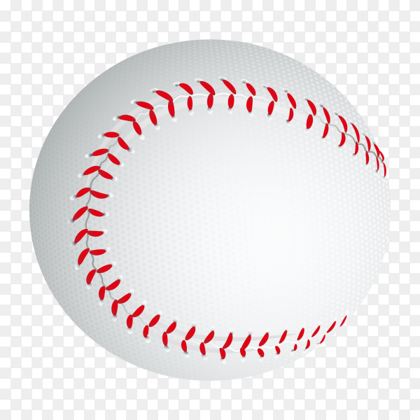 Baseball ball illustration on transparent background PNG