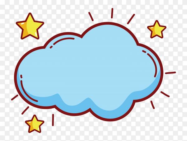 Beautiful blue cloud vector PNG
