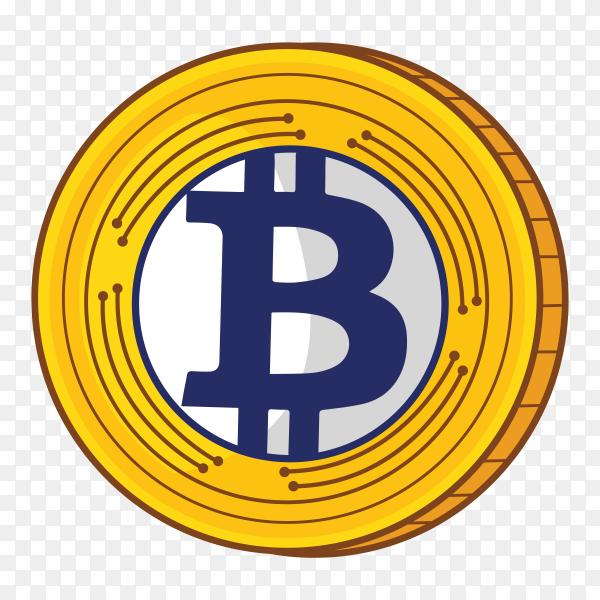 Bitcoin design on transparent background PNG