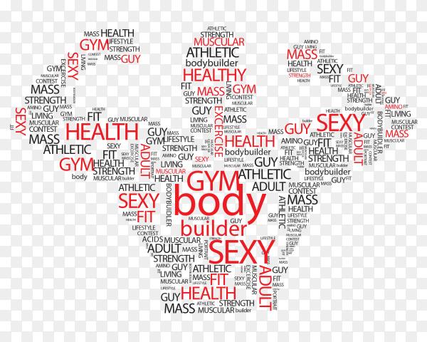 Body builder Logo on transparent background PNG