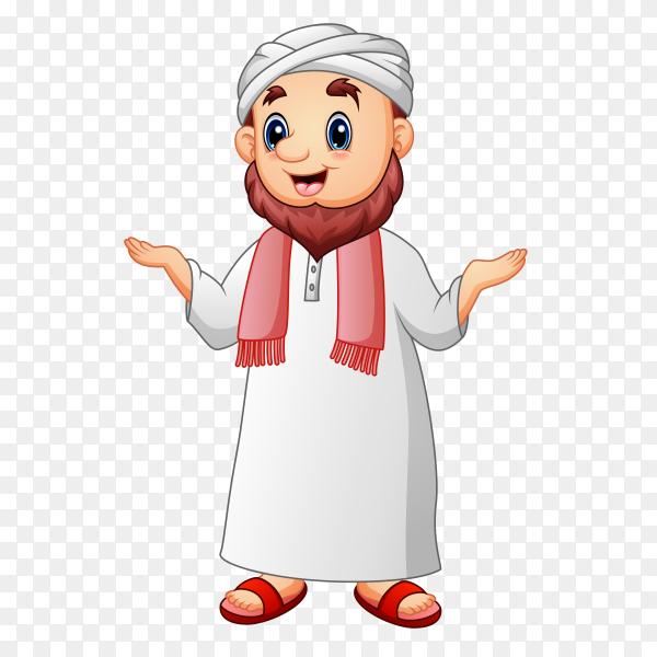 Cartoon Muslim man Clipart PNG