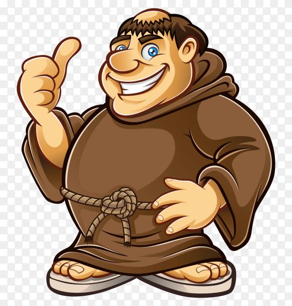 Cartoon big man on transparent background PNG