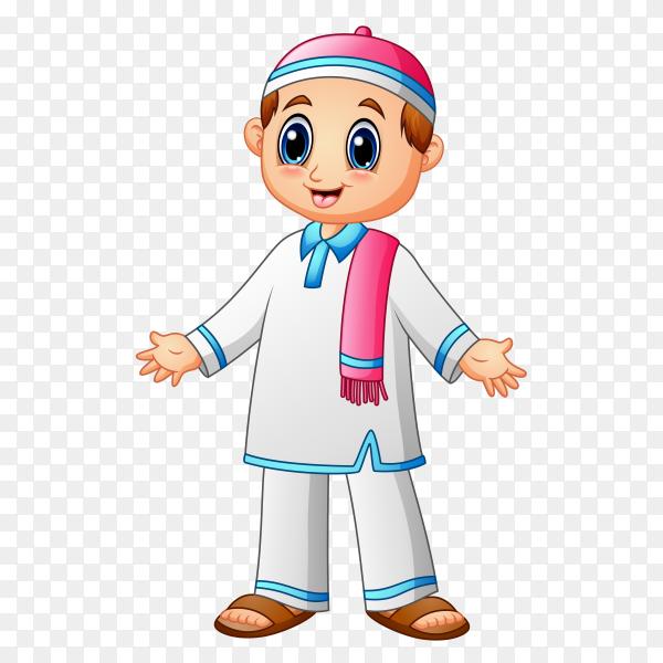 Cartoon muslim man vector PNG