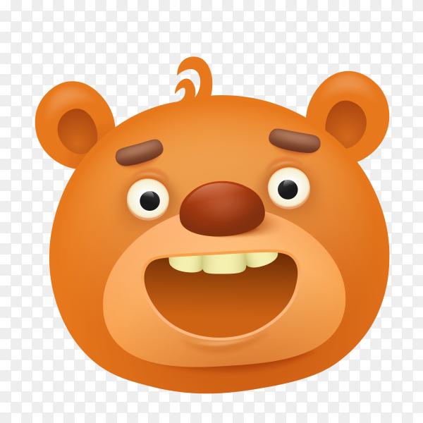 Cartoon teddy bear Premium vector PNG