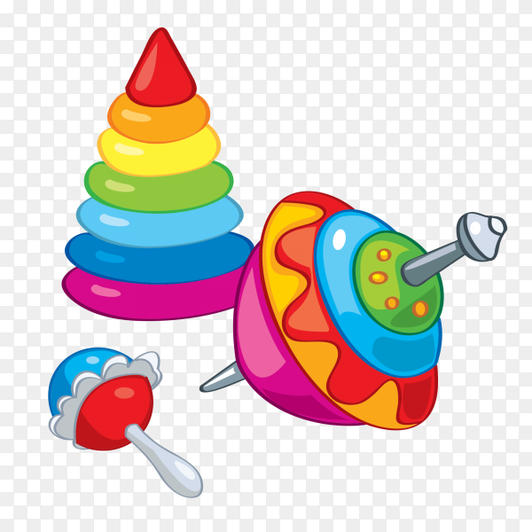 Cartoon toys icon on transparent background PNG