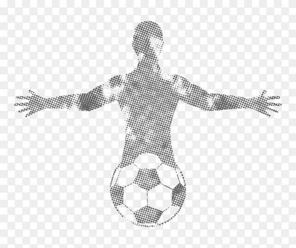 Celebrations football player Premium vector PNG