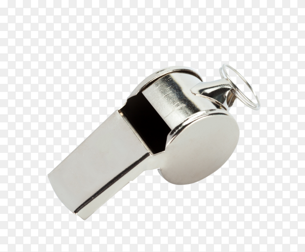Classic coaches whistle on transparent background PNG