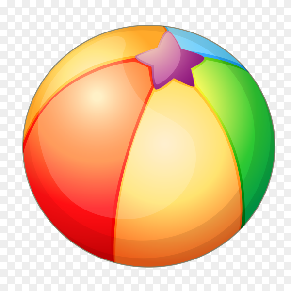 Colorful ball Premium vector PNG