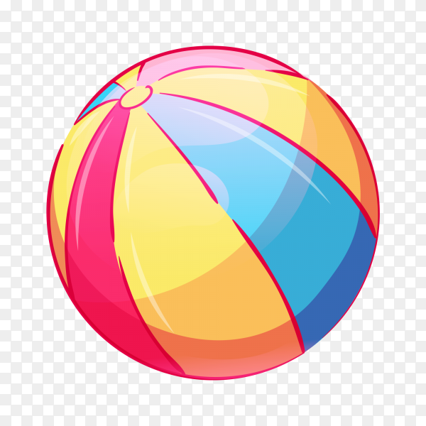 Colorful ball on transparent background PNG