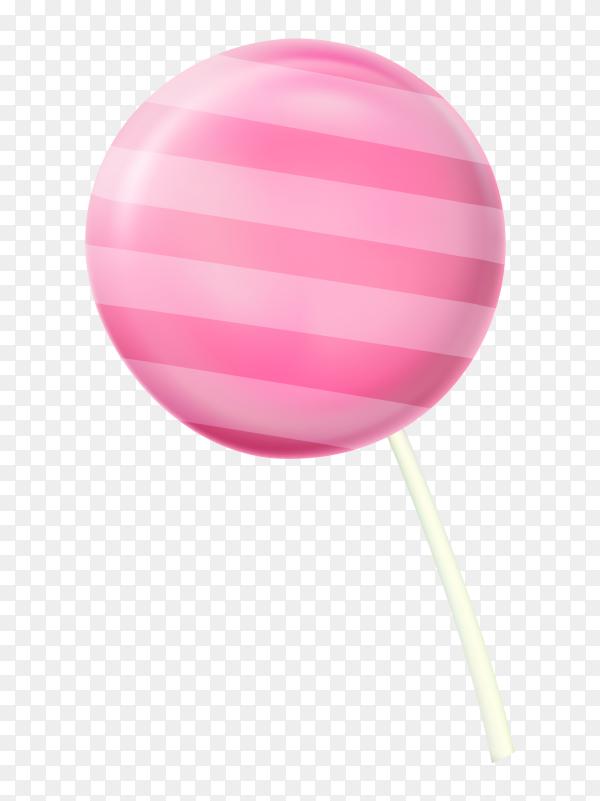 Colorful lollipop with stick Premium vetor PNG