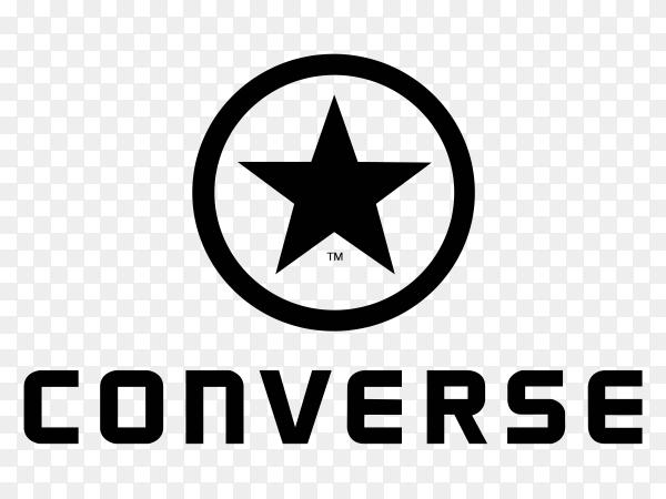 Converse Logo design on transparent background PNG