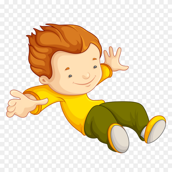 Cute cartoon boy Premium vector PNG
