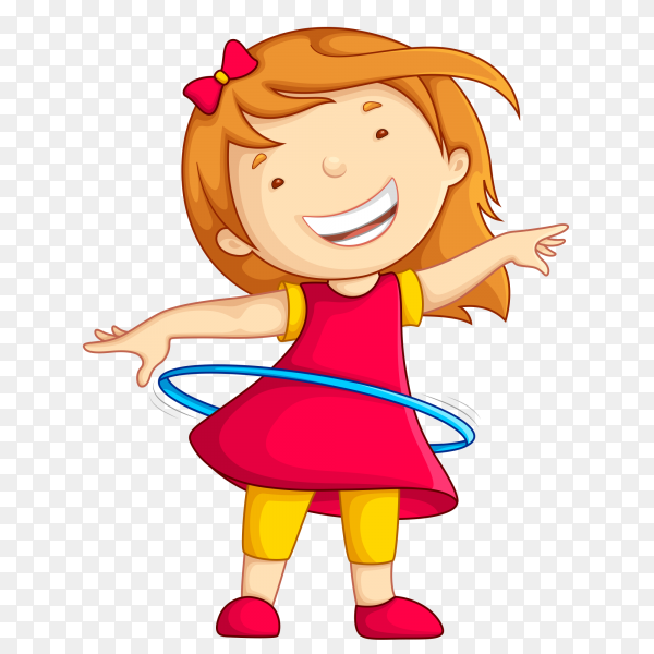 Cute happy smiling girl isolated white Clipart PNG