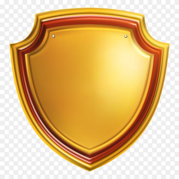 Elegant golden shield Premium vector PNG